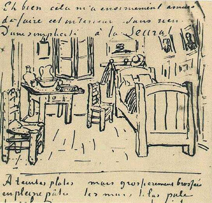 Vincent van Gogh, Sketch Sent to Paul Gauguin
