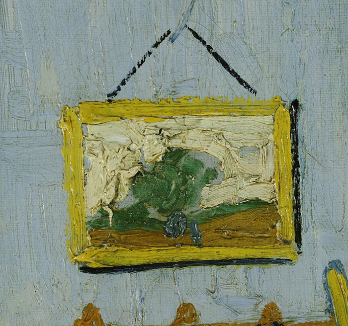 Vincent van Gogh, Bedroom in Arles (First Version), 1888 (Outlining)