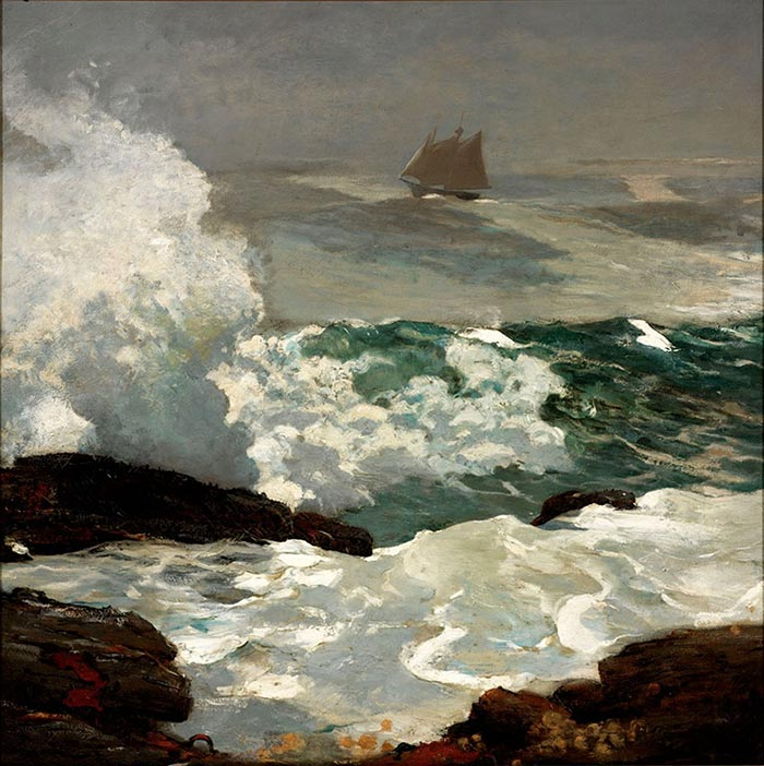 Winslow Homer, On the Leeward Shore, 1900