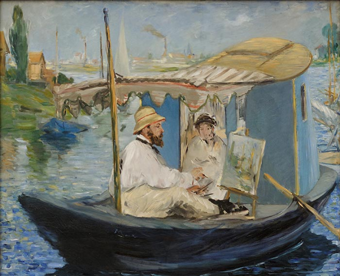 Édouard Manet, Claude Monet Painting in His Studio, 1874