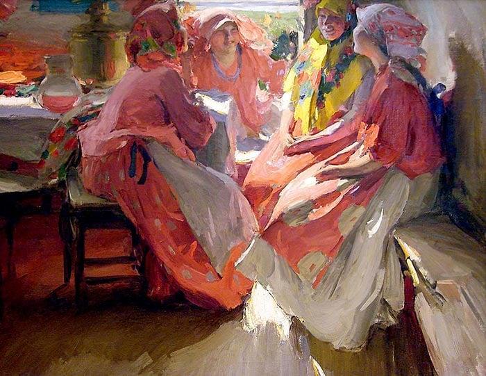 Abram Arkhipov, Visiting, 1915