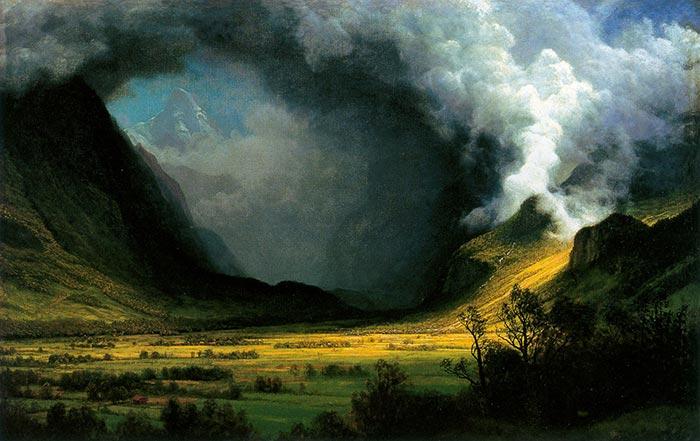 Albert Bierstadt, Storm in the Mountains, c.1870