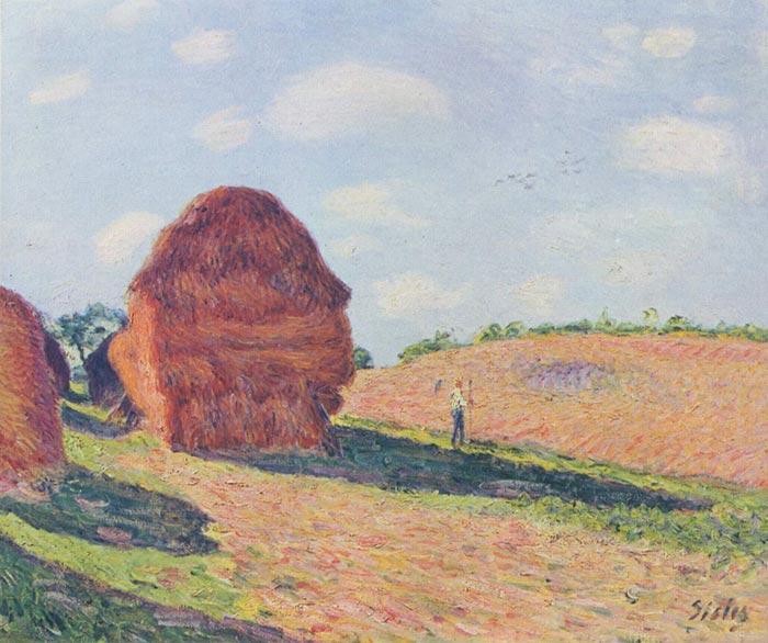 Alfred Sisley, Haystacks, 1895