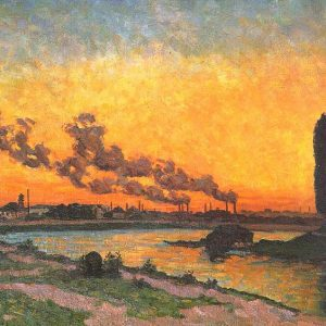 Arman Guillaume, Sunset at Ivry, 1873