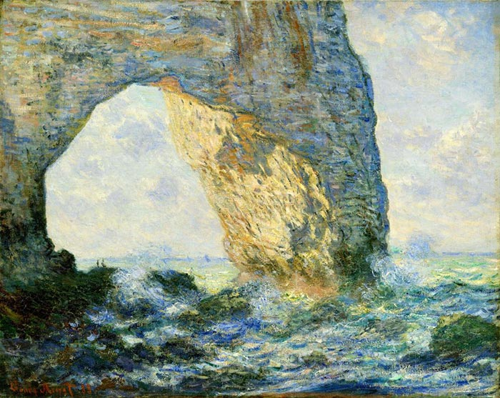 Claude Monet, Arch to the West from Etretat, 1883