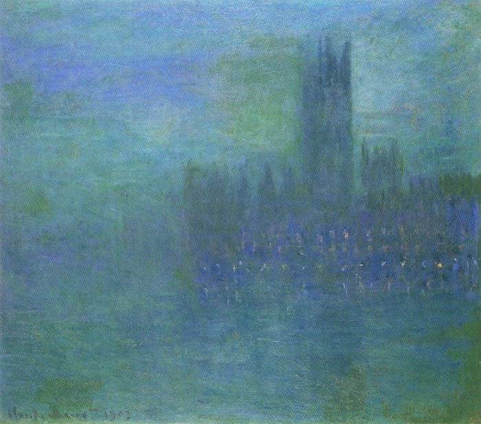 Claude Monet, The Palace of Westminster, The Fog Effect, 1903