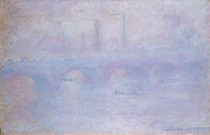 Claude Monet, Waterloo Bridge, Fog Effect, 1903
