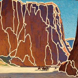Edgar Alwin Payne, Sunset, Canyon De Chelly, 1916 (Small Shapes)