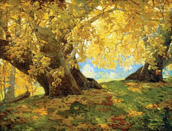 Edgar Alwin Payne, Sycamore in Autumn, Orange County Park, c.1917
