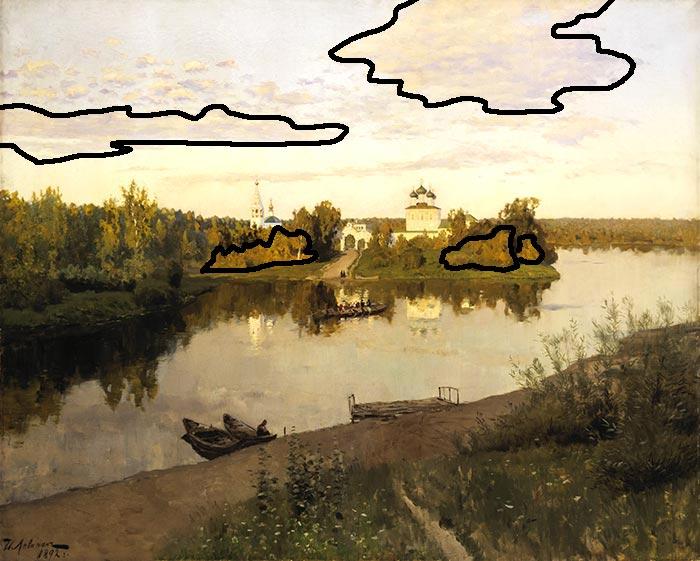 Isaac Levitan, Evening Bells, 1892 (Organic Shapes)