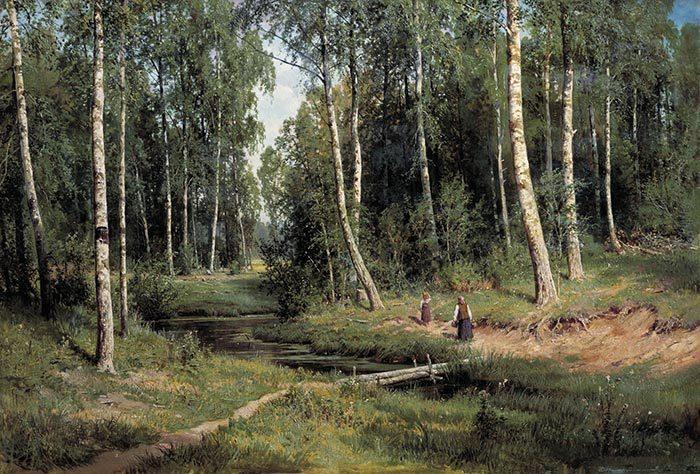 Ivan Shishkin, In the Birch Tree Forest, 1883