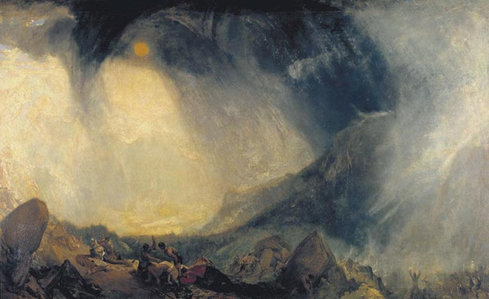 J.M.W Turner, Snow Storm. Hannibal with His Army Crossing the Alps, 1812