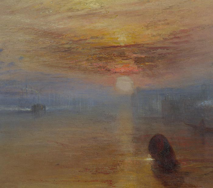 J.M.W. Turner, The Fighting Temeraire, 1838 (Detail 1)