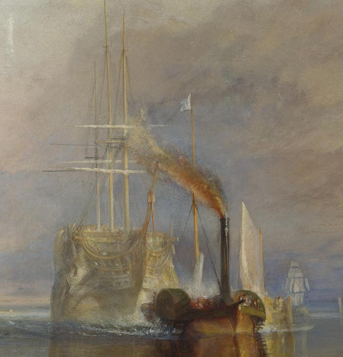 J.M.W. Turner, the Fighting Temeraire, 1838 (Detail 2)