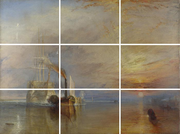 J.M.W. Turner, The Fighting Temeraire, 1838 (Grid)
