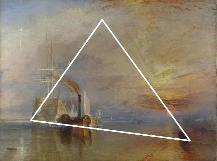 J.M.W. Turner, The Fighting Temeraire, 1838 (Triangle)