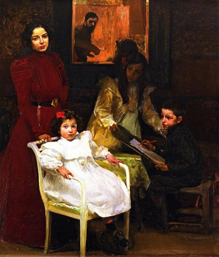Joaquín Sorolla, My Family, 1901