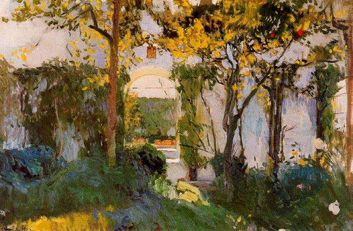 Joaquín Sorolla, The Old Garden in Seville's Alcazar, 1910