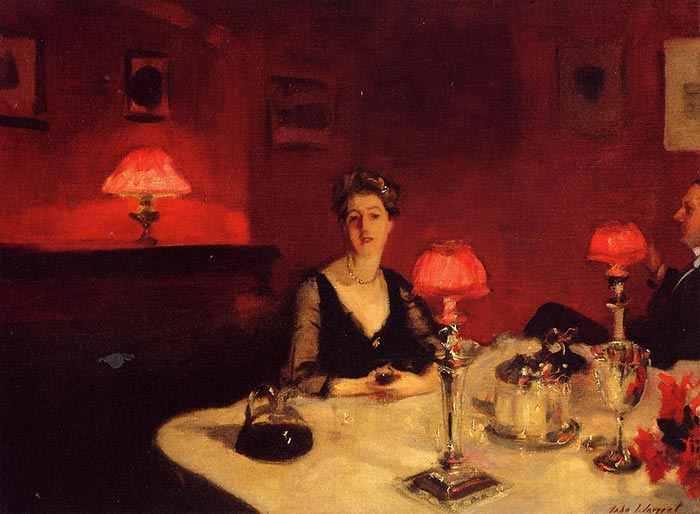 John Singer Sargent, A Dinner Table at Night, 1884
