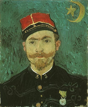 Vincent van Gogh, Portrait of Paul-Eugène Milliet (The Lover), 1888