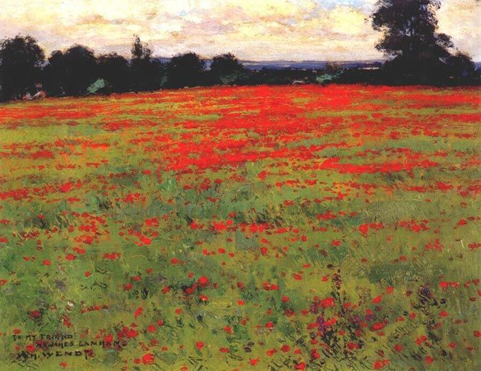 William Wendt, Red Poppies