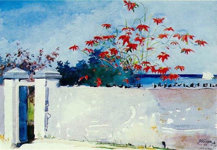 Winslow Homer, A Wall, Nassau, 1898