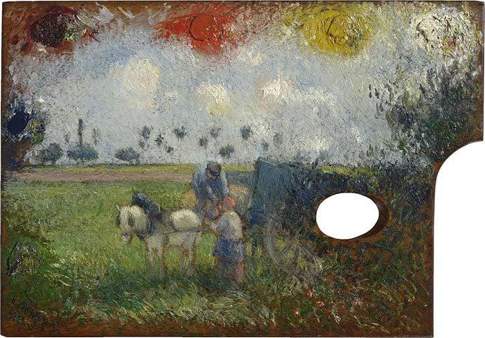 Camille Pissarro, Landscape Painted on Palette, c.1878