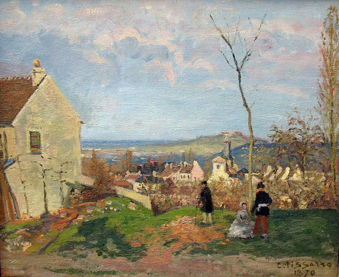 Camille Pissarro, Louveciennes with Mont Valérien in the Background, 1870