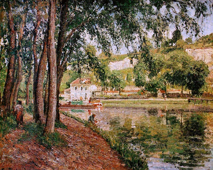 Camille Pissarro, Moret, the Canal Du Loing, 1902