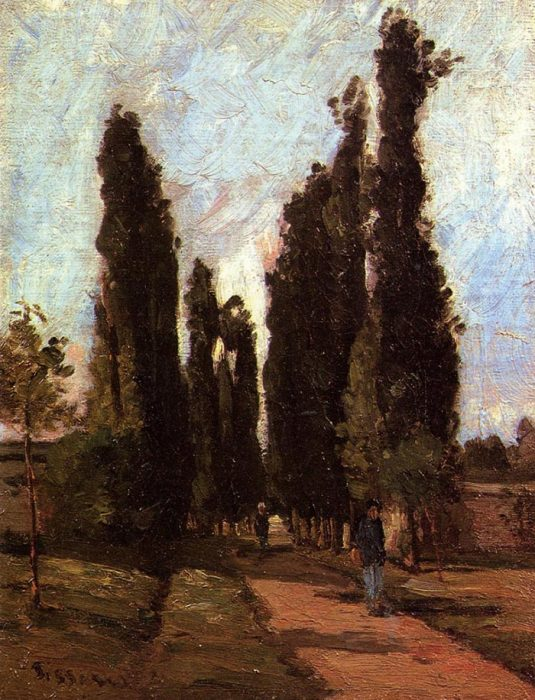 Camille Pissarro, Road, 1864