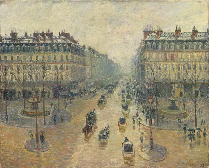 Camille Pissarro, The Avenue De L'Opera, Paris, Sunlight, Winter Morning, 1898