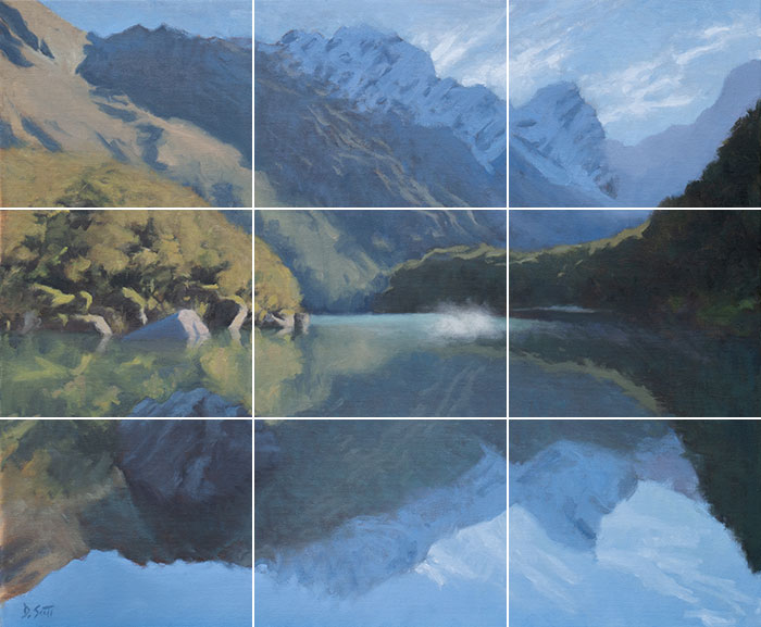 Dan Scott, New Zealand Reflections, 2019 - Grid