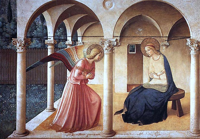 Fra Angelico, The Annunciation, ca. 1440 to 1445