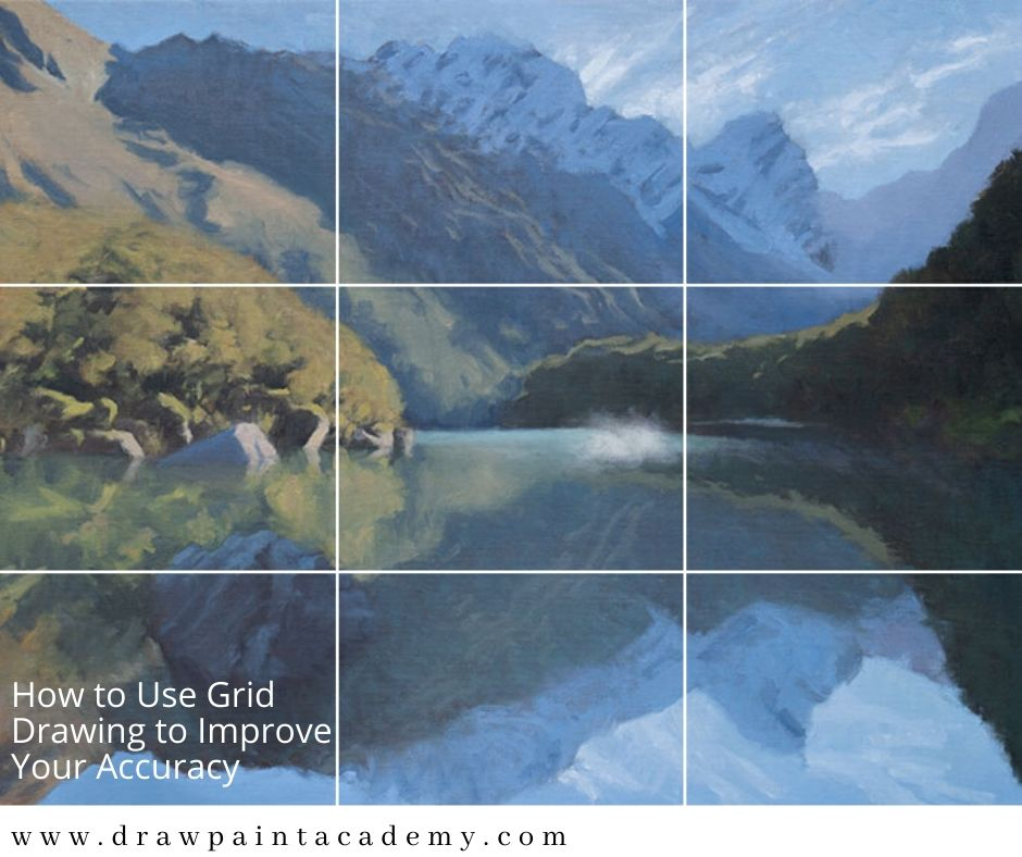 Grid drawing is a technique that will help improve your accuracy without compromising the development of your freehand drawing in the long-term. It basically involves placing a grid over your reference photo and canvas, then using that grid to assist with the placement of your drawing. #drawpaintacademy