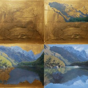New Zealand Reflections - Step-by-Step