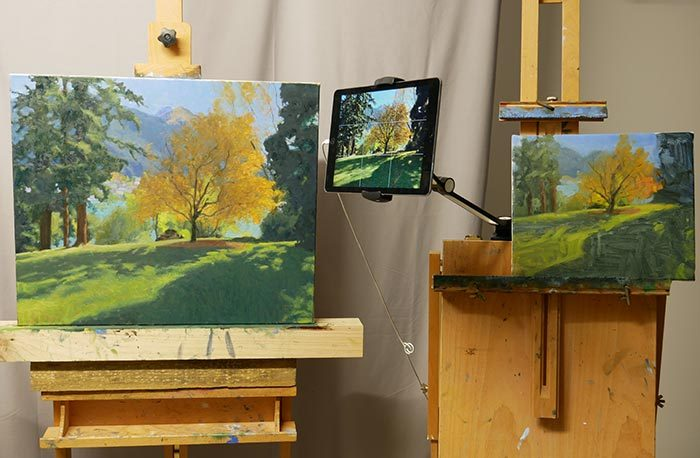 On the Easel - Studio