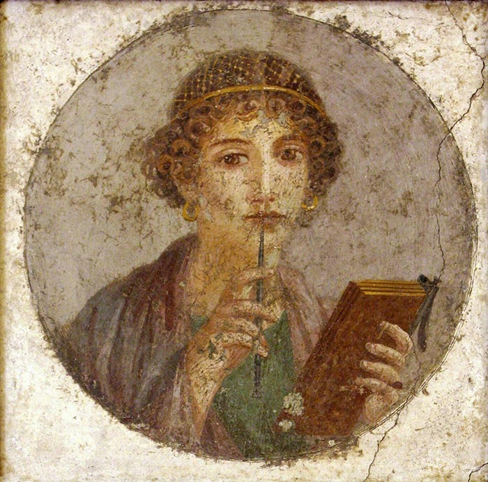 Fresco of Sappho, c.55-79 AD