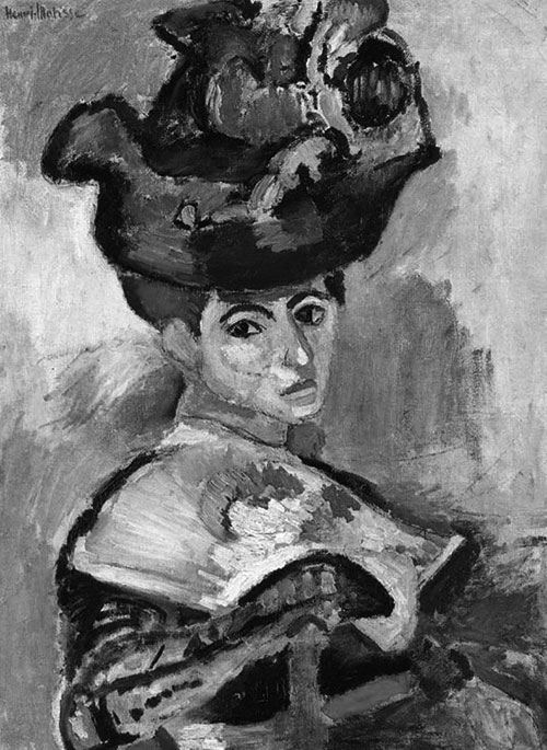 Henri Matisse, Woman with a Hat, 1905 (Grayscale)