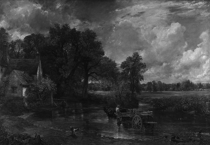 John Constable, The Hay Wain, 1821 (Grayscale)