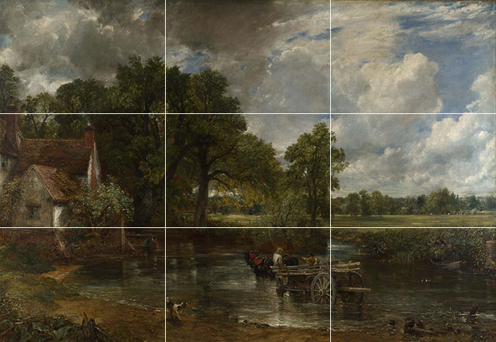 John Constable, The Hay Wain, 1821 (Grid)