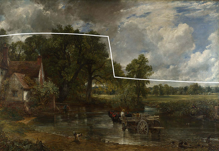 John Constable, The Hay Wain, 1821 (L-Shape)