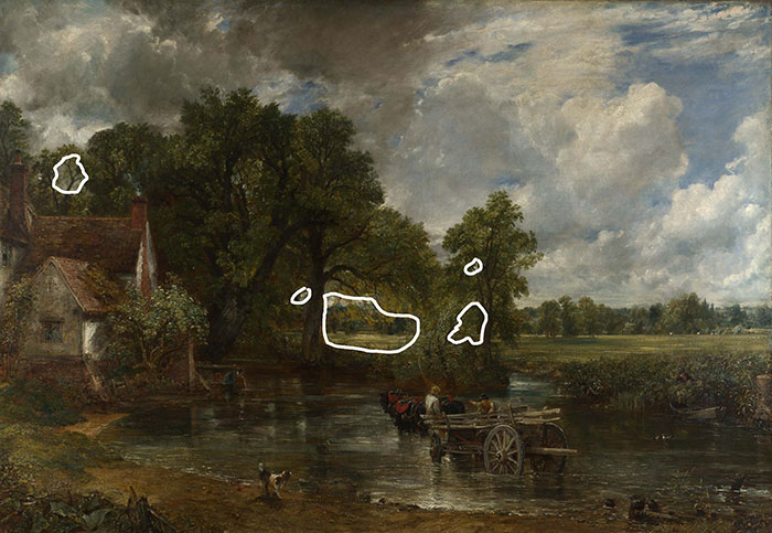 John Constable, The Hay Wain, 1821 (Negative Space)