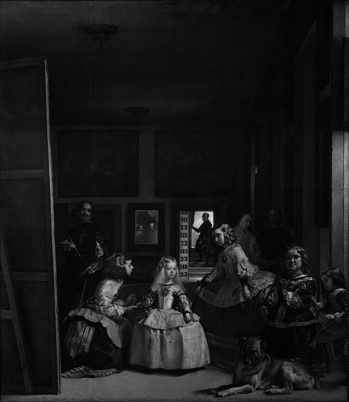 Diego Velázquez, Las Meninas, 1956 (Grayscale)
