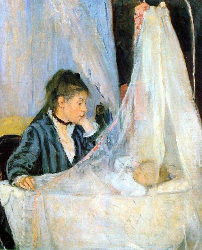 Berthe Morisot, At the Cradle, 1872