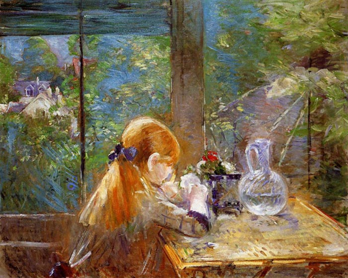 Berthe Morisot, On the Veranda, 1884
