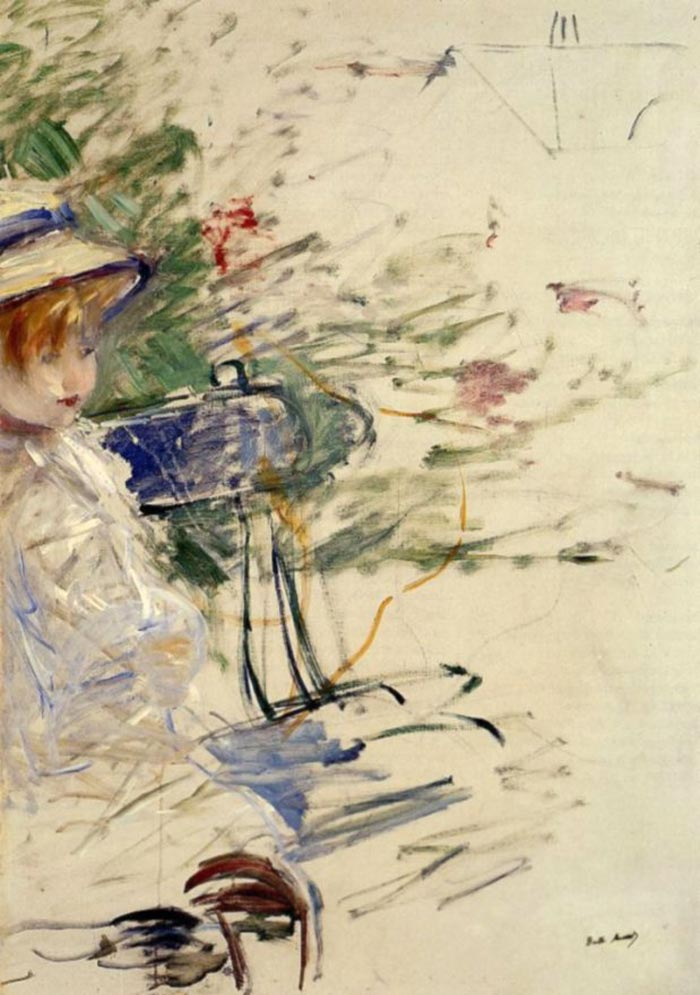 Berthe Morisot, The Little Girl in the Garden, 1884