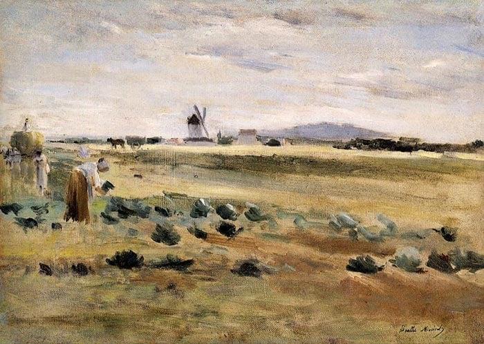 Berthe Morisot, The Little Windmill at Gennevilliers, 1875