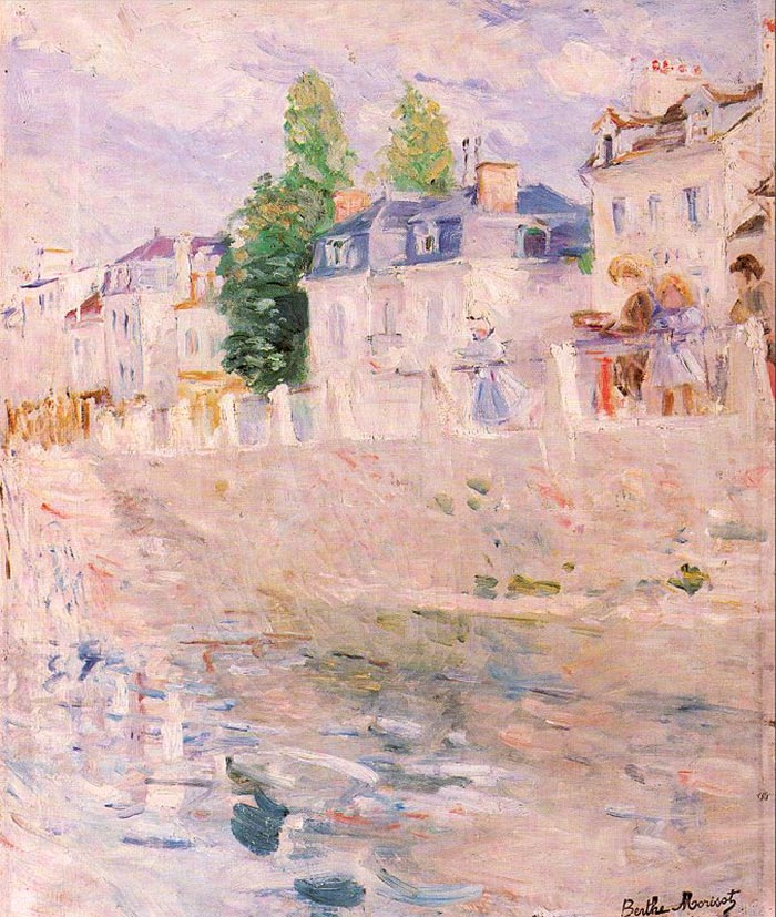 Berthe Morisot, The Quay at Bougival, 1883