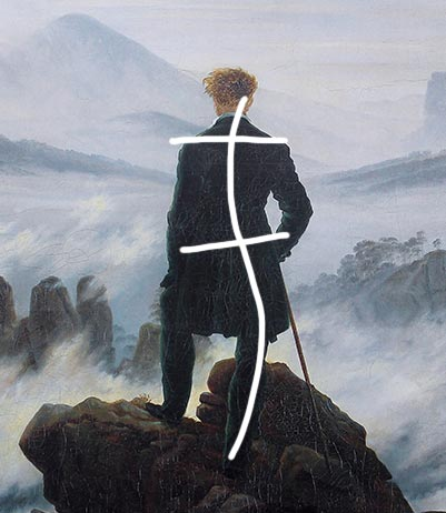 What is one aspect of renaissance of the painting wanderer above the sea of fog
