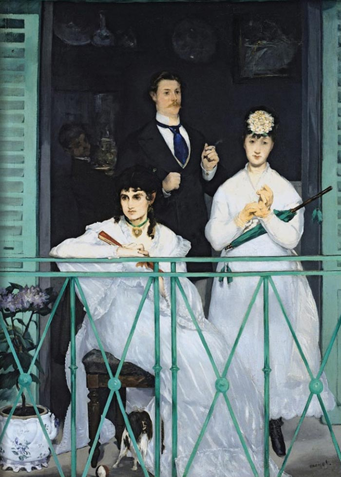 Édouard Manet, The Balcony (Berthe Morisot on Left), 1868